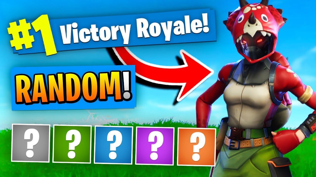 The Random Outfit Challenge In Fortnite Battle Royale Youtube