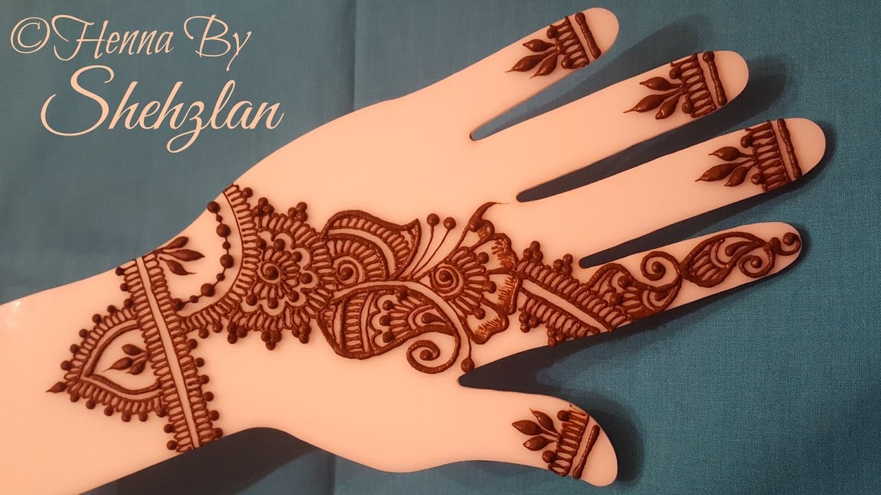 Mehndi Bracelet Designs 2016 : Henna by shehzlan how to tutorial bracelet bail