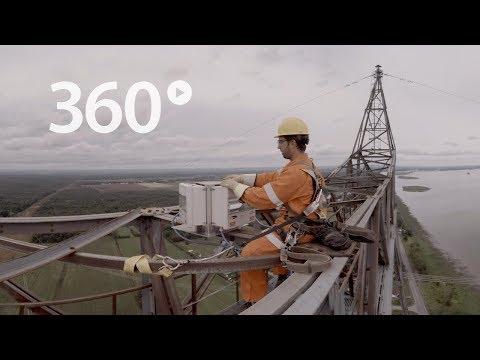 Au sommet avec un monteur de ligne : une expérience en vidéo 360 [vidéo 360 4K]