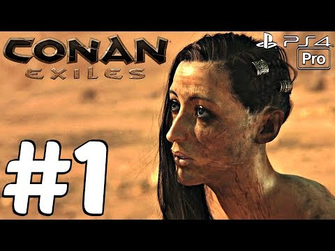 Conan Exiles – Gameplay Walkthrough Part 1 – Prologue (Full Game) PS4 PRO