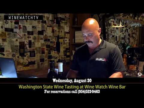 Washington State Wine Tasting at Wine Watch Wine Bar - click image for video