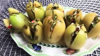 Готовим у Каси / зеленые помидоры острые помидоры / вкусный рецепт /рецепт помидор