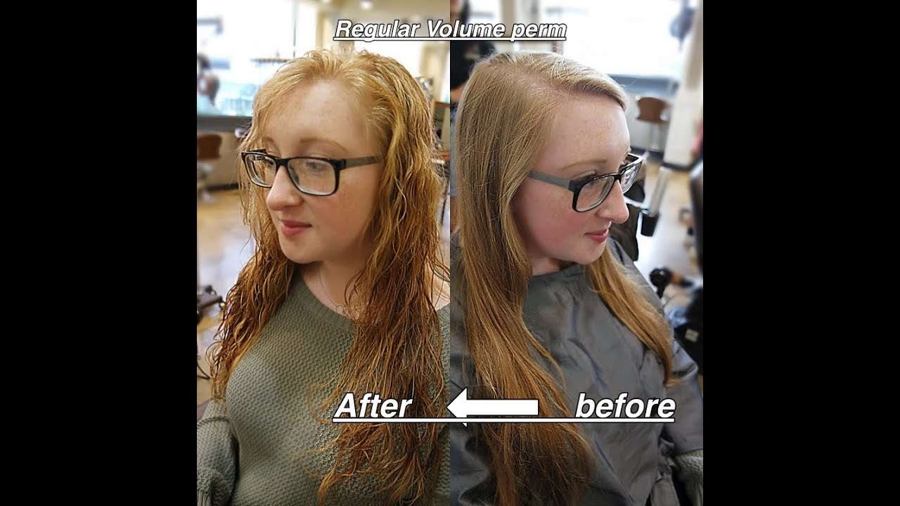 Very Fine Hair Adds Volume With Wavy Permanent Youtube