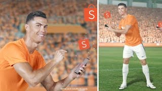 Cristiano Ronaldo dodgy dancing for Shopee in viral advertising