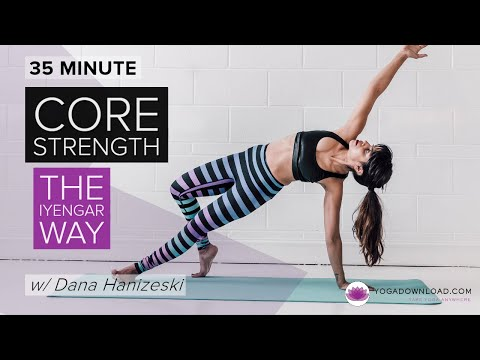 Core Strength the Iyengar Way - FREE IYENGAR YOGA CLASS