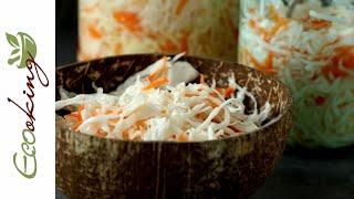 Ферментированная квашеная капуста простой и быстрый способ натуральный пробиотик Вариант 2