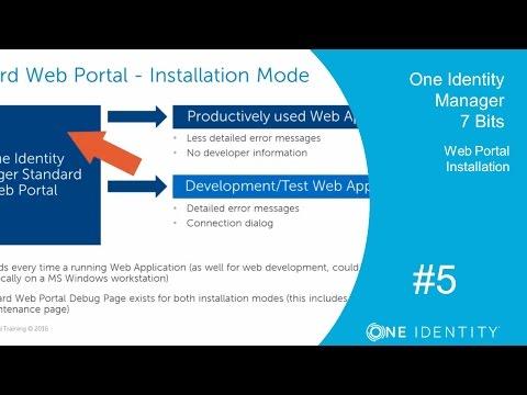 One Identity Manager   Version 7 Bits #5   Web Portal Installation