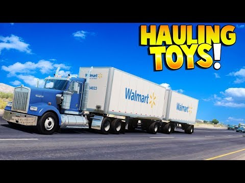 ATS - HAULING TOYS FOR KIDS! - American Truck Simulator Gameplay