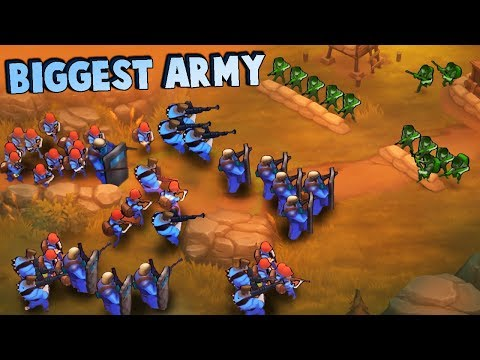 My BIGGEST ARMY Yet!  We're UNSTOPPABLE!  (Guns Up Multiplayer Gameplay)