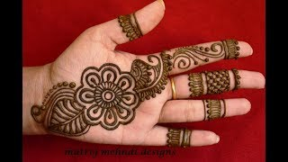 Latest Arabic Henna Designs For Hands *Simple Arabic Henna Mehndi Designs*Matroj Mehndi Designs