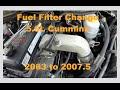 06 Dodge Cummins Fuel Filter