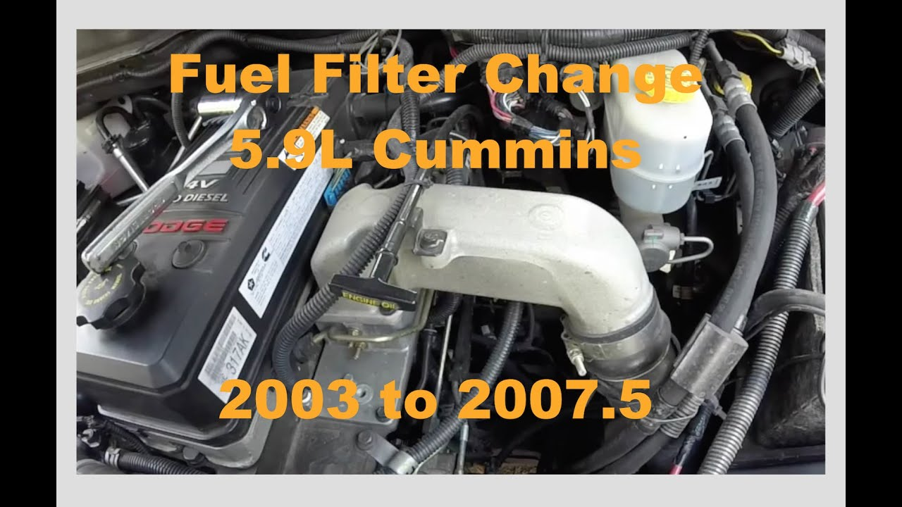06 dodge cummins fuel filter [ 1280 x 720 Pixel ]