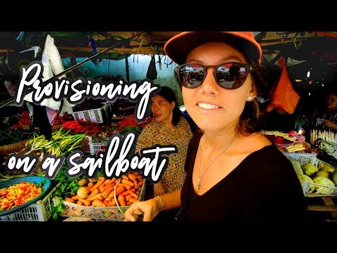 Provisioning at the markets in Indonesia (Sailing Blue Moon) Ep. 19