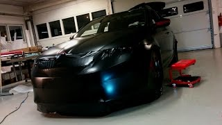 Car wrapping - Skoda Octavia RS 2014 Satin black wrap