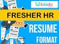 resume | fresher hr resume  | sample resume | resume templates | c v template | resume examples