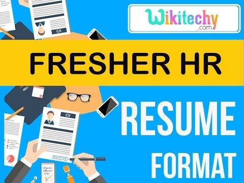 resume | fresher hr resume | sample resume | resume templates | c v ...