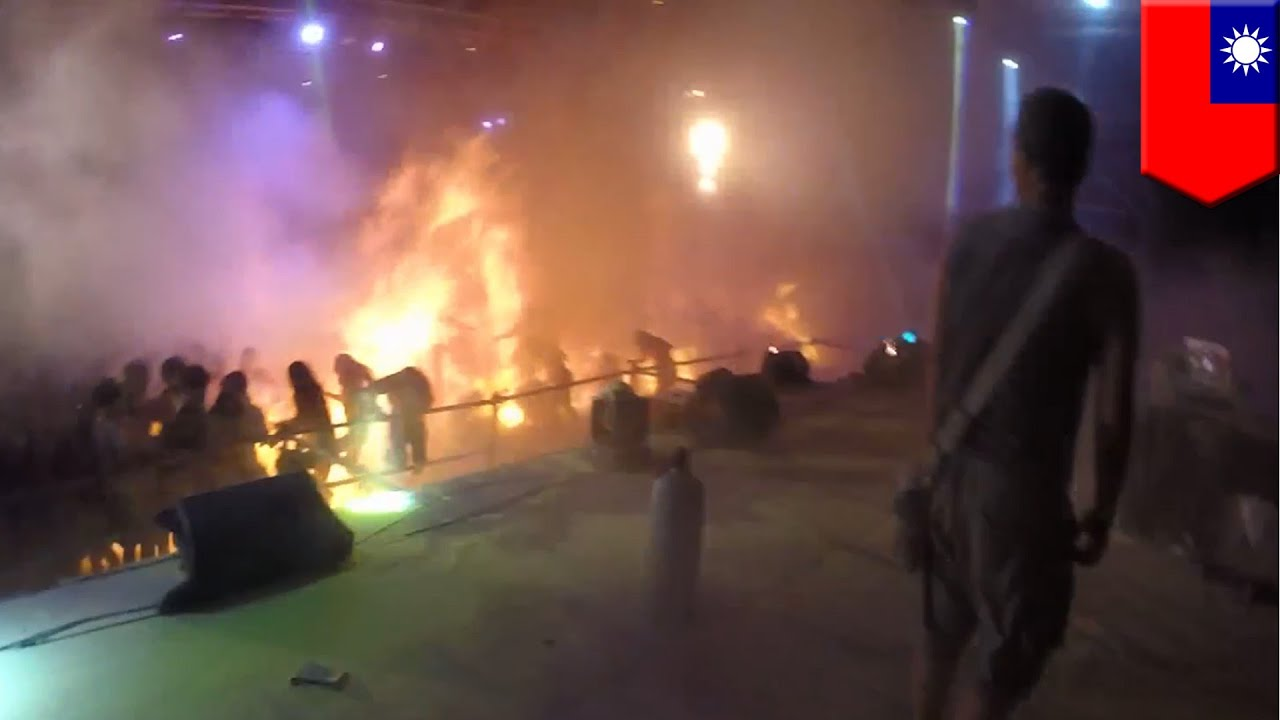 New video from Taiwan's deadly Formosa Water Park fire ...