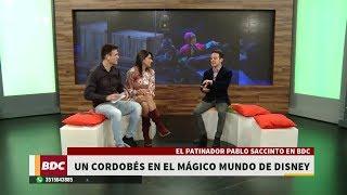 El cordobés Pablo Saccinto, patinador del mágico mundo de Disney
