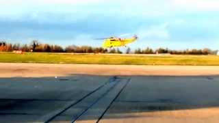 RAF Westland Sea King Takes off from East Midlands Airport 9 Nov 14