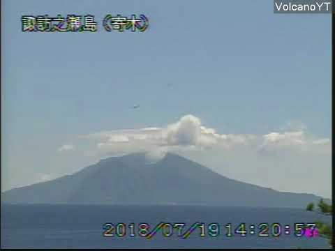 19/7/2018 WITA - Mt Suwanosejima 諏訪之瀬島 TimeLapse
