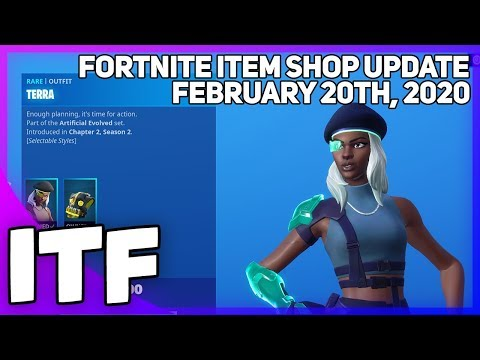 Fortnite Item Shop *NEW* ARTIFICIAL EVOLVED SET! [February 20th, 2020] (Fortnite Battle Royale)