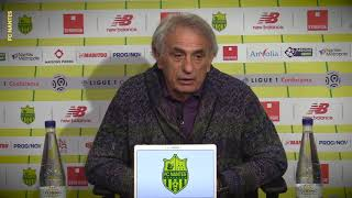Vahid Halilhodzic avant Caen - FC Nantes