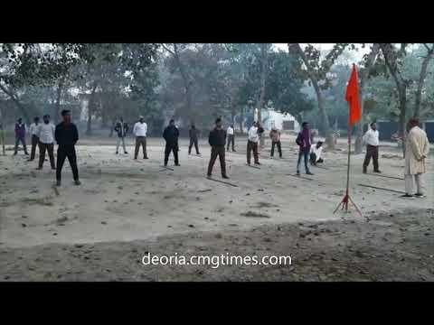 #TheDeoriaTimes राष्ट्रीय स्वयंसेवक संघ ने मनाया भलुअनी में विजय दिवस
