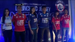 Tim Arema FC Perkenalkan Jersey Baru Untuk Kompetisi Liga 2017 - NET Sport
