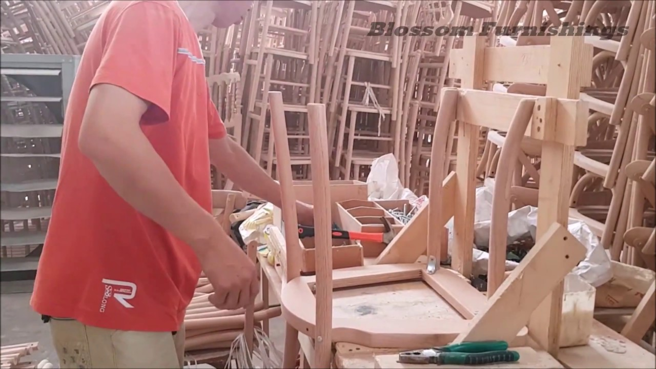 Steel Chair Manufacturing Process Fold Up Rocking Lawn Crossback Youtube