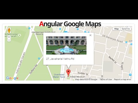 Creating  Google Maps Sample App  with AngularJS and asp.net MVC