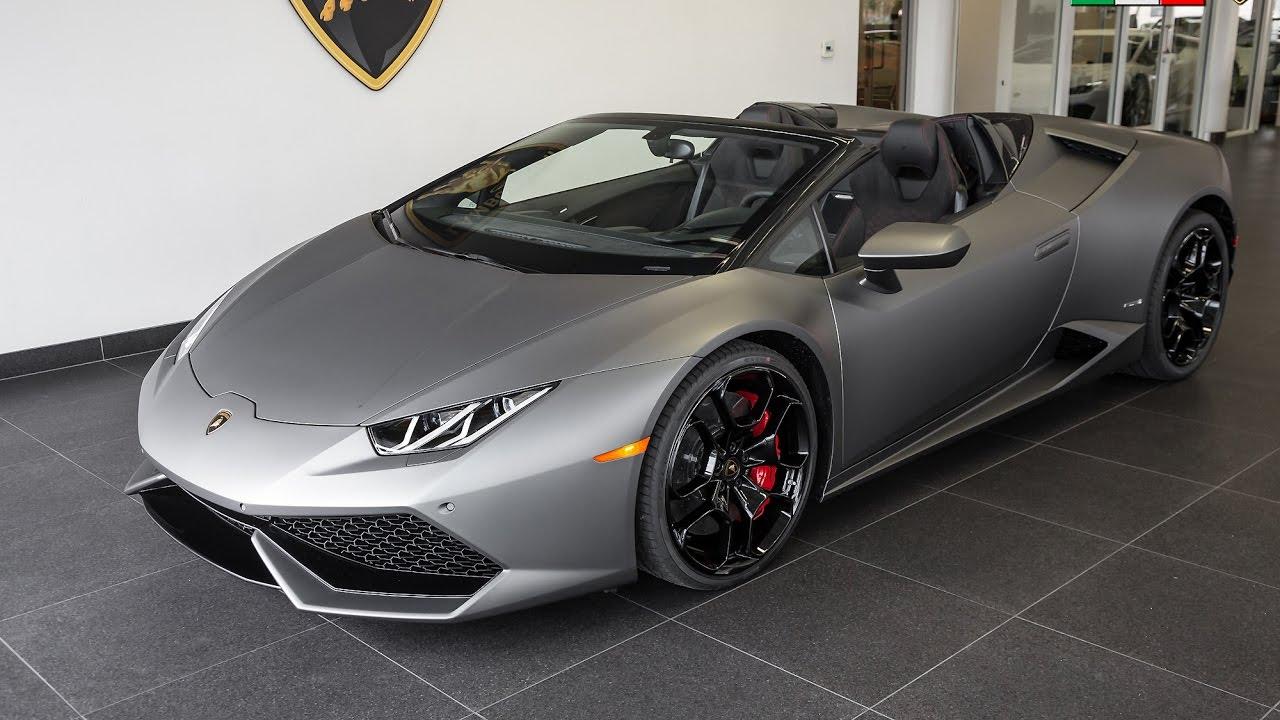 2017 Quot Grigio Titans Quot Lamborghini Huracan Lp610 4 Spyder Youtube