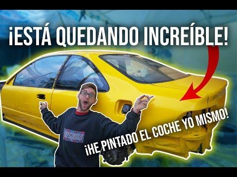 ¡¡Mi Civic PINTADO EN EL JARDÍN ya parece un coche!!🍋