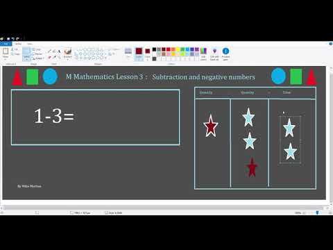 M Mathematics Lesson 3 Subtraction and Negative Numbers thumbnail