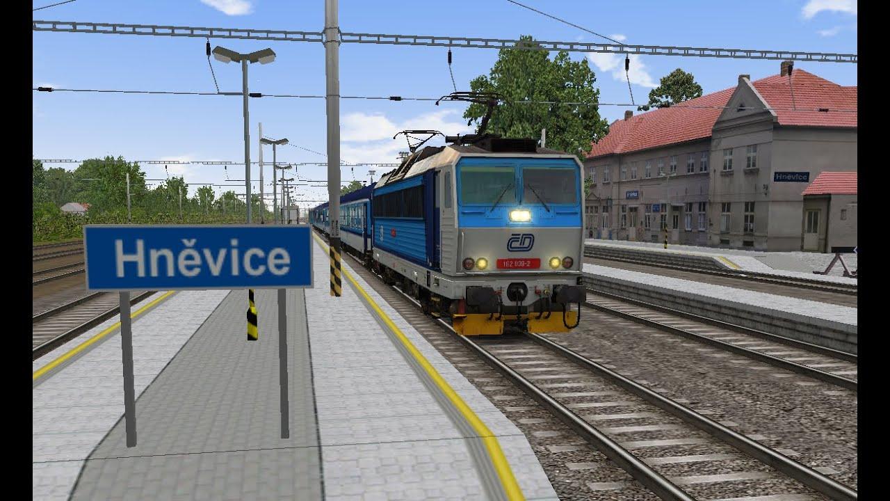 Microsoft Train Simulator - trať 321   R 683 Děčín - Praha Ep. 3 - YouTube