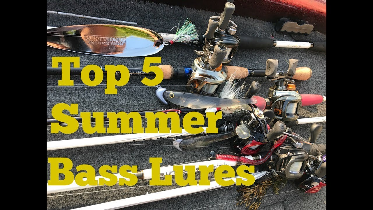 Top 5 Summer Bass Fishing Lures Youtube