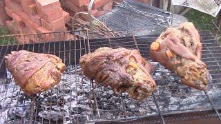 #ДАЧНУТЫЕ# СВИННАЯ РУЛЬКА В ПИВЕ! Рецепт с гарниром из квашенной капусты.