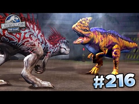 MAXED RAJASTEGA FIGHTS INDOMINUS!!! || Jurassic World - The Game - Ep216 HD