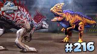 MAXED RAJASTEGA FIGHTS INDOMINUS!!! || Jurassic World - The Game - Ep216 HD