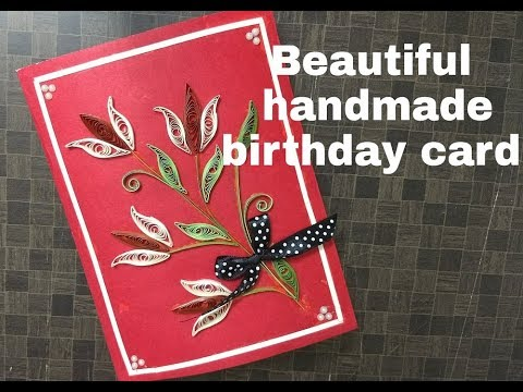 Handmade Birthday Card For Best Friend Complete Tutorial Youtube