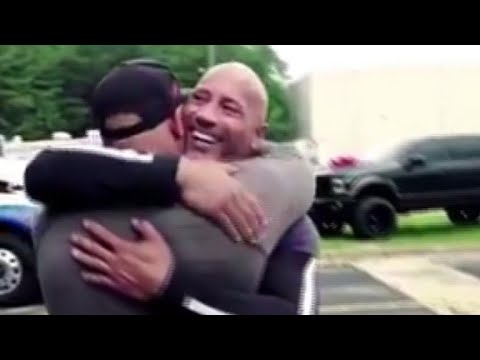 The Rock surprises stunt double with major gift, bringing man to tears