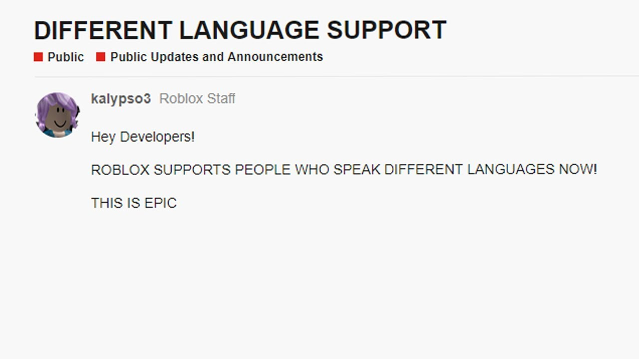 Roblox Supports Foreign Languages Now Youtube