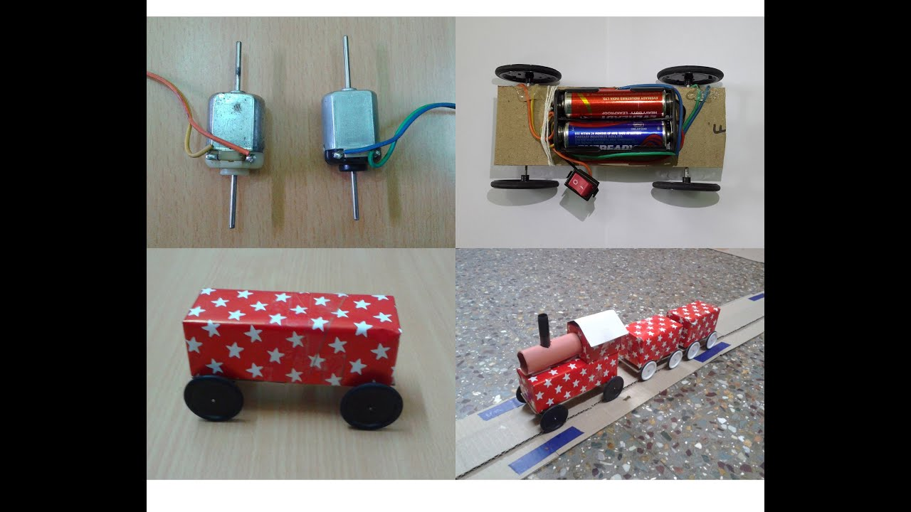 How to Make a DIY Toy Working Train & Track with DC Motor ...