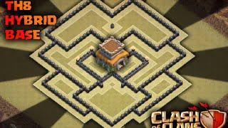 Clash of Clans (COC) Th8 hybrid base | Farming base
