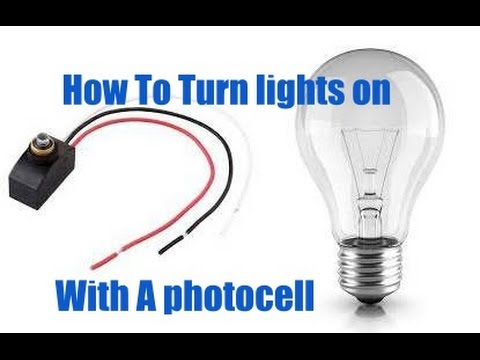 Installing Lights on A Photocell - YouTube