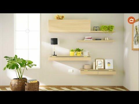 Consolas repisas y escritorio en un solo mueble youtube for Modelos de repisas para cocinas pequenas