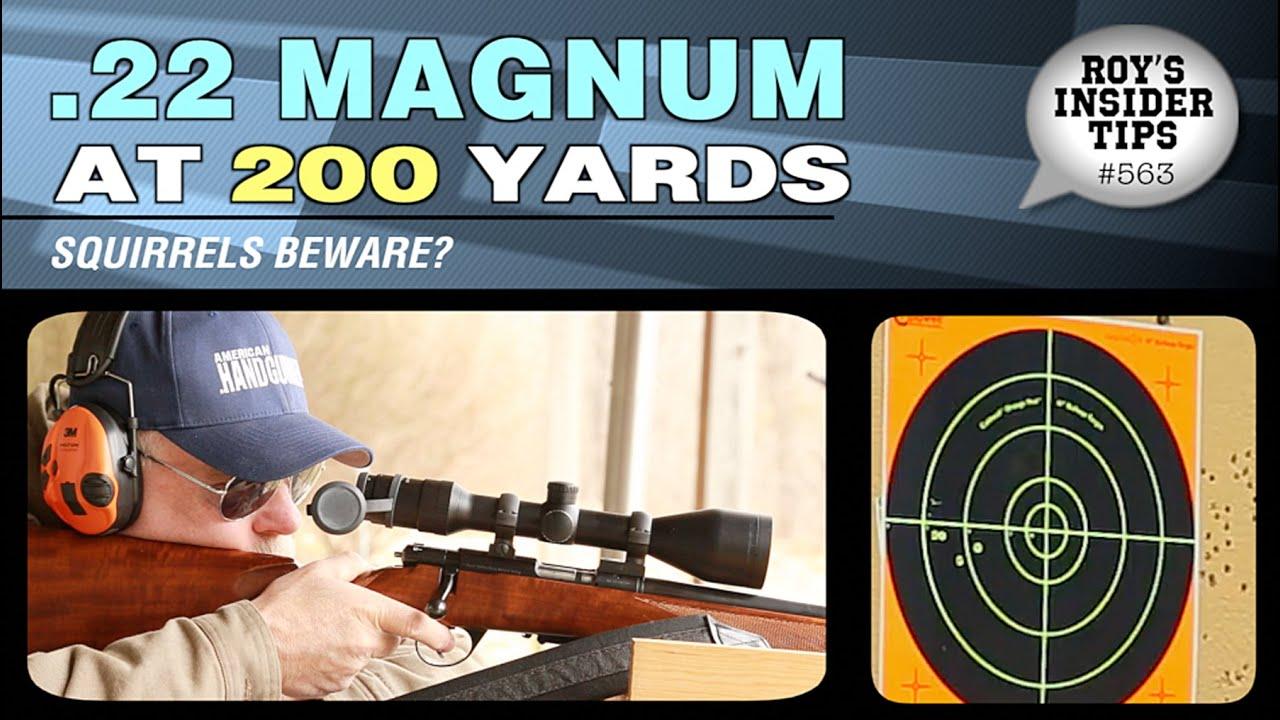 22 Magnum At 200 Yards