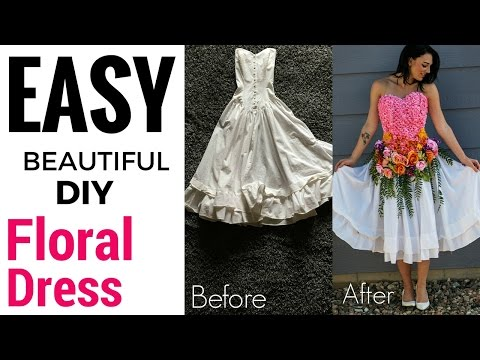 Easy Floral Dress Makeover | DIY
