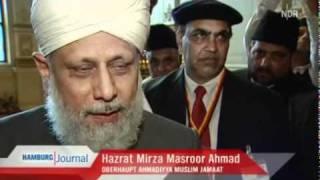 NDR - ISLAM Ahmadiyya Muslim Jamaat - Kalif Mirza Masroor Ahmed im Rathaus Hamburg
