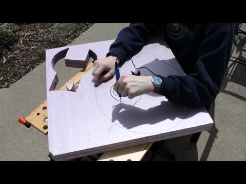 Cutting foam with a handheld hot-cutter