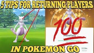 5 Tips  Tricks For Returning Players For Pokemon Go